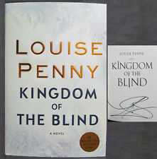 SIGNED! KINGDOM OF THE BLIND - LOUISE PENNY - HCDJ 2018 - 1st Ed - Great Gift!