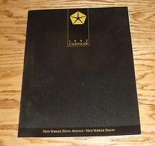 Original 1992 Chrysler New Yorker Sales Brochure 92 Fifth Avenue Salon