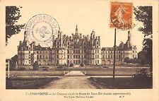 BF5804 le chateau vu de la route de chateau chambord france    France