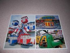 1970s AMUSEMENT PARK KIDDIE RIDES at CIRCUS WORLD ORLANDO FLORIDA VTG POSTCARD