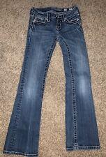 Euc Miss Me Girls Thick Stitch Jeans Size 12 Style Jpk5014