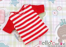 ☆╮Cool Cat╭☆84.【NS-11N】Blythe Pullip T-Shirt # Stripe Red