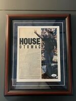 John Thompson Autographed Magazine Photo W/ Custom Frame JSA COA Georgetown HOF