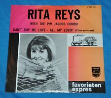 "rita reys with the pim jacobs combo: can't buy me love 7"" 45 1964 DUTCH beatles"