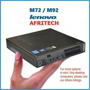 Lenovo M92 i7 1TB 16GB 480GB SSD USB 3 FAST TINY PC DESKTOP SMALL Win10 Pro WiFi