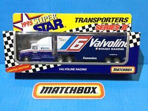 1995 MATCHBOX CONVOY SUPERSTAR FORD AEROMAX NASCAR TEAM TRANSPORTERS VALVOLINE