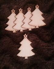 NINNOLI IN LEGNO TONDO NATALE IN LEGNO MDF 3mm Craft Bianchi Tag Regalo di Natale