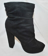 CHIC Michael Antonio Malone Black Suede Ankle Bootie Boots High Heel Shoes  7