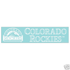 Colorado Rockies 4 x 16 Inch Die Cut Window Decal