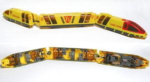 3pc 1987 TYCO HO 440-X2 Motor HO Bullet TURBO TRAIN Yellow & Red #5 Very Fast
