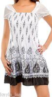 Ivory/Black Rhinestone/Smocked Paisley Dress