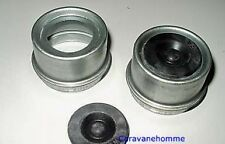 2 EZ Lube 2.44 Dust Cover Hubs Grease Caps Trailer Axle Hub Spindle Cap Covers