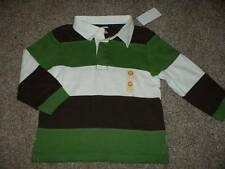 Gymboree Boys Green Brown Striped Polo Shirt Top Size 3T 3 Toddler NWT NEW Fall