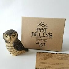 Harmony Kingdom Ball Pot Bellys Hawk Owl Miniature Figurine #Pbzow11