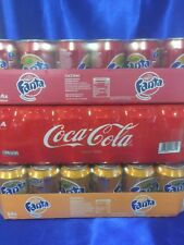 Coca Cola,Fanta Orange, Fanta Kiwi strawberry je 24 x 0,33l ( 72 Dosen Total )
