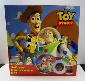 Disney Toy Story Dinnerware Set 3-Piece Zak Designs / Hasbro 1995 NEW TS-110 AFA