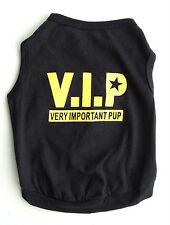 Puppy Dog (Small) VIP, Very Important Pup Black T Shirt, Dog Clothing UK Seller