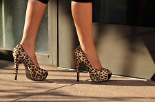 DAO Branded Affair Leopard pony hair Women's Platform High Heel size 9
