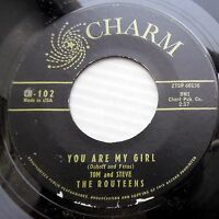 ROUTEENS 45 you are my girl You're unforgettable 1959 teen BOPPER e7633