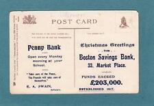 Boston Savings Bank Advert back of Torquay pc