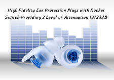 (Size: Medium) New Design High Fidelity Dual Switched Ear Plugs - 18 and 23dB