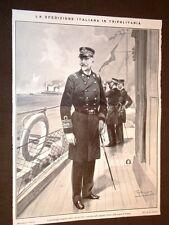 Spedizione d'Italia in Libia nel 1911 Ammiraglio Aubry nelle acque di Tripoli