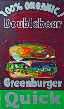 Gugli (1959) acrylique sur toile intitulée Double bear dimensions 50 x 30 cm