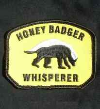 HONEY BADGER WHISPERER USA ARMY MILITARY COLOR VELCRO® BRAND FASTENER PATCH