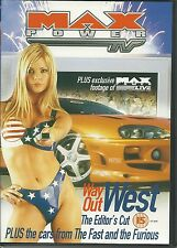 MAX POWER WAY OUT WEST THE EDITOR'S CUT DVD + CARS FROM THE FAST AND THE FURIOUS