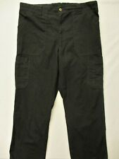 Carhartt~Mint!~Men'S L=36X30 Black Rip Stop Scrub Cargo Pants C54108