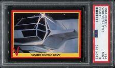 1984 Fleer V The Series PSA 9 #34 Shuttle Enemy Visitors 80s TV Show Alien Mint