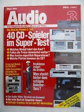AUDIO 3/84.DUAL CST 3510,KENWOOD KVR 970B,DP 1100B,MARANTZ CD 73,MICRO SEIKI M 1