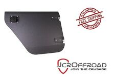 JCR Offroad Rear Aluminum Half Doors - Black PC - 07-16 Jeep Wrangler JKU 4 Door