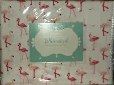 QUEEN SHEET SET FLAMINGO PINK PRINT HOTEL COLLECTION 100% POLYESTER SHEETS NEW