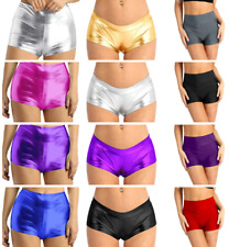 Womens Gymnastic Workout Sports Dance Shorts Rave Festivals Costumes Short Pants