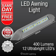 Caravan Awning Light LED Annex Lamp 12 v 400 Lumens  Grey  Strip Lamp Waterproof