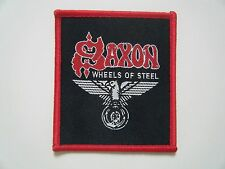 SAXON PATCH Iron On WHEELS OF STEEL Badge Heavy Metal Band Logo NWOBHM NEW