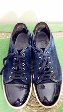 Genuine Lanvin Contrast Sneakers Black Suede Size 8 *VGC*