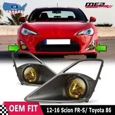 For 2012-2015 Scion FR-S PAIR OE Factory Fit Fog Light Bumper Kit Yellow Lens