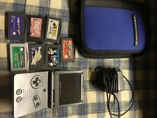 Nintendo GameBoy Advance GBA SP Charcoal Grey AGS-101 W/ Case And Games. Bundle.