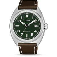 CITIZEN AUTOMATIC NJ0100-38X JAPAN MOVT ONLY AVAILABLE IN EUROPE Rare Green Face