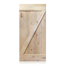 """Vicente Design Rustic Unfinished Knotty Alder Barn Door 36""""x80"""" (Free Shipping)"""