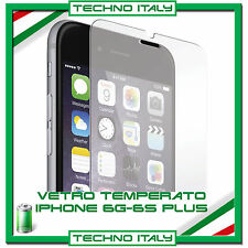 PELLICOLA PROTETTIVA VETRO TEMPERATO APPLE IPHONE 6 e 6S PLUS PROTEZIONE SCHERMO