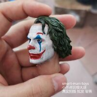 """1/6 Scale Joker Head Sculpt Carving Model Male Figure Toy for 12"""" Action Body"""