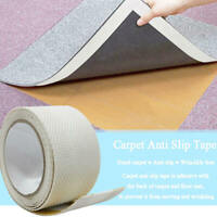 Reusable Rug Carpet Mat Grippers Anti Slip Rubber Grip Skid  Fixed Tape cby