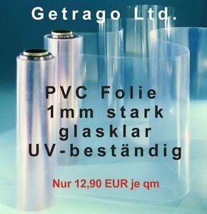 Seatech PVC Fenster Folie glasklar 1mm, Bootsverdeck, Cabrio, UV beständig