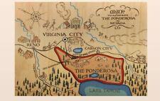 Bonanza Map of the Ponderosa PHOTO Publicity Pic WILD WEST TV Show Western