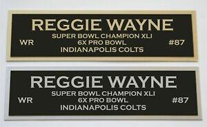 Reggie Wayne nameplate for signed jersey football helmet or photo