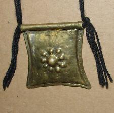 African Niger Bronze Amulet Tuareg Talisman Tcherot Pendant Necklace Tag Africa