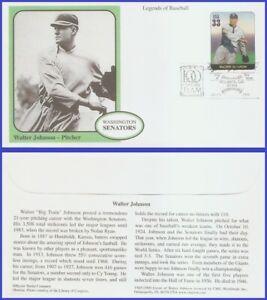 USA5 #3408i U/A MYSTIC FDC Legends of Baseball Walter Johnson
